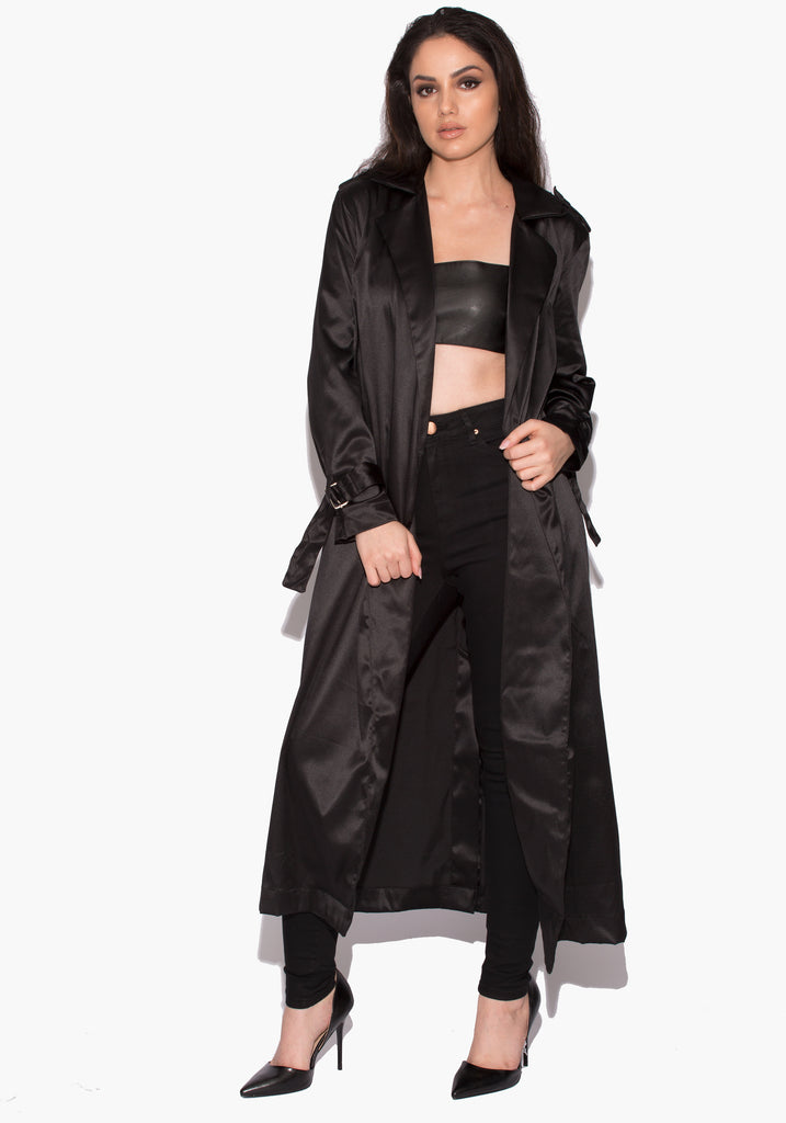 Mia Silky Trench Coat