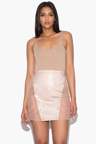 Iridescent Alyssa Crystal Skirt
