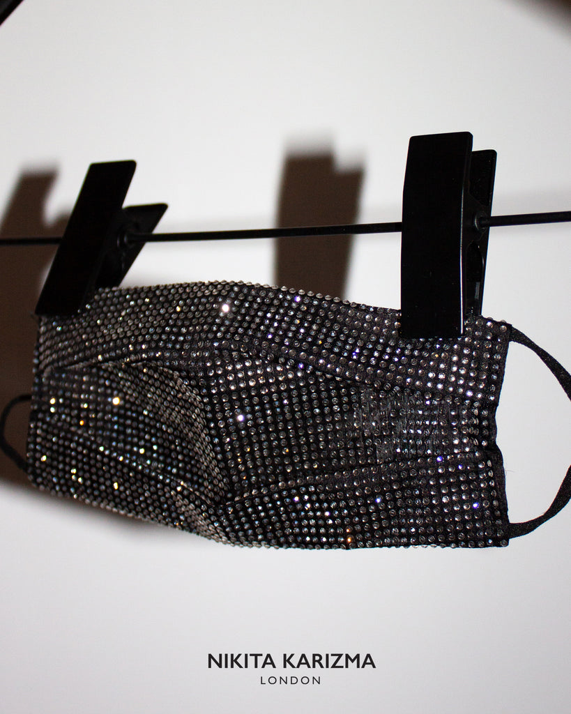 Black Crystallised Face Mask