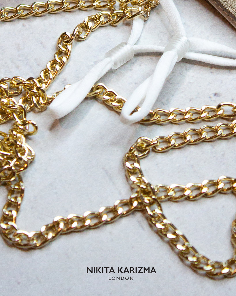Chelsea Chain Mask in Gold