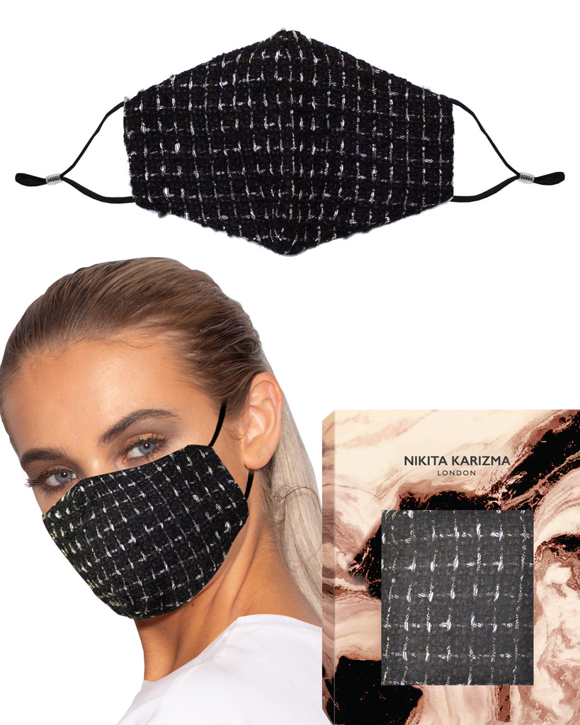 Wool Collection in Legacy Face Mask by KARIZMA Fabric Face Mask 1 Piece