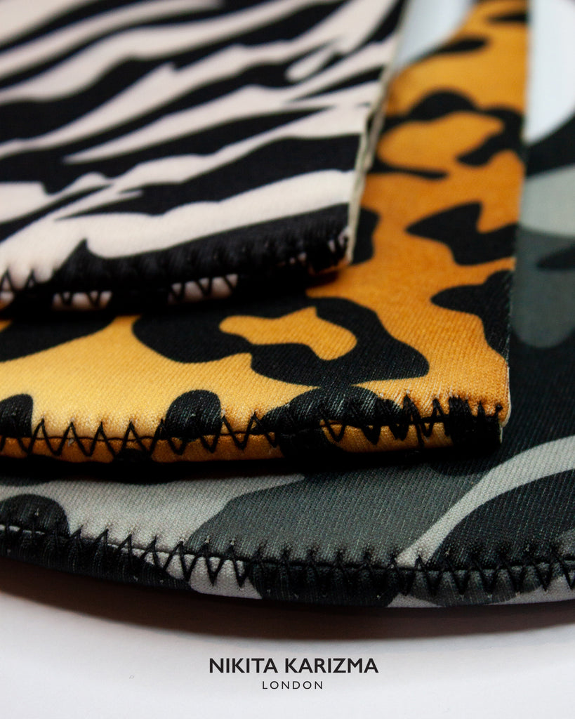 Animal Print Neoprene Mask 3 Pieces
