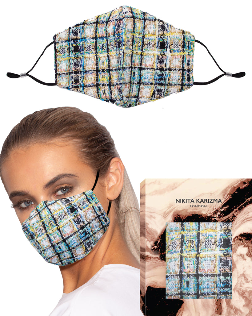 Wool Collection in Parisian Face Mask by KARIZMA Fabric Face Mask 1 Piece