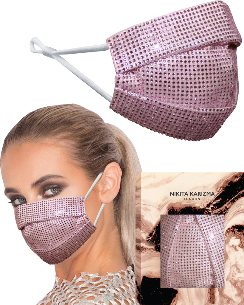 Pink Crystallised Face Mask