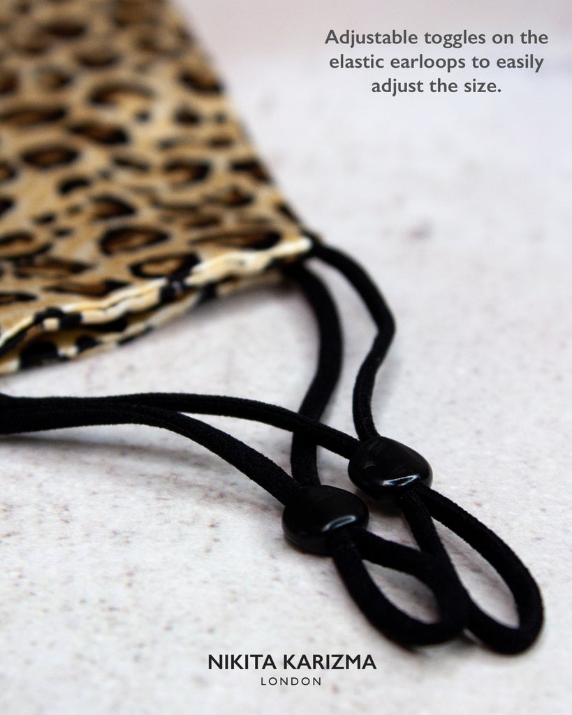 The Valley Leopard Print Silk Mask