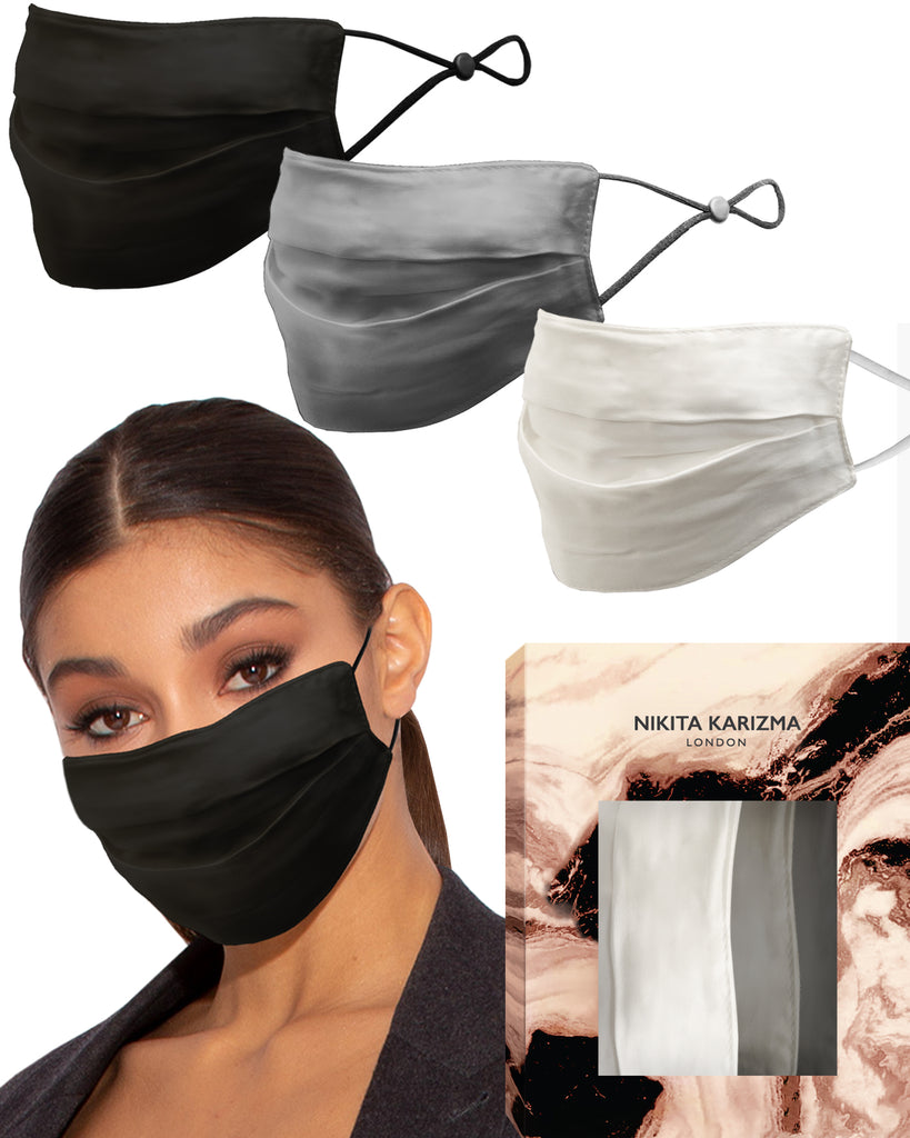 Beverly Hills Silk Mask Collection in Neutral 3 Pieces