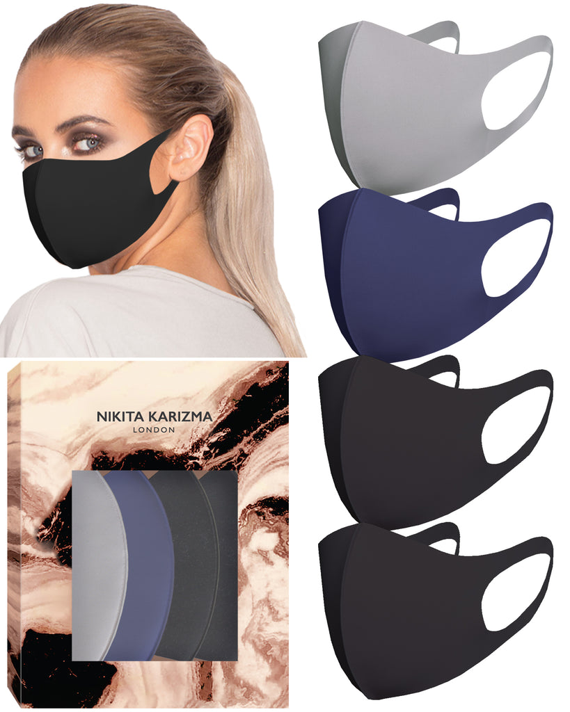 Styling Essentials in Twilight Face Mask by KARIZMA Fabric Face Mask 4 Pieces