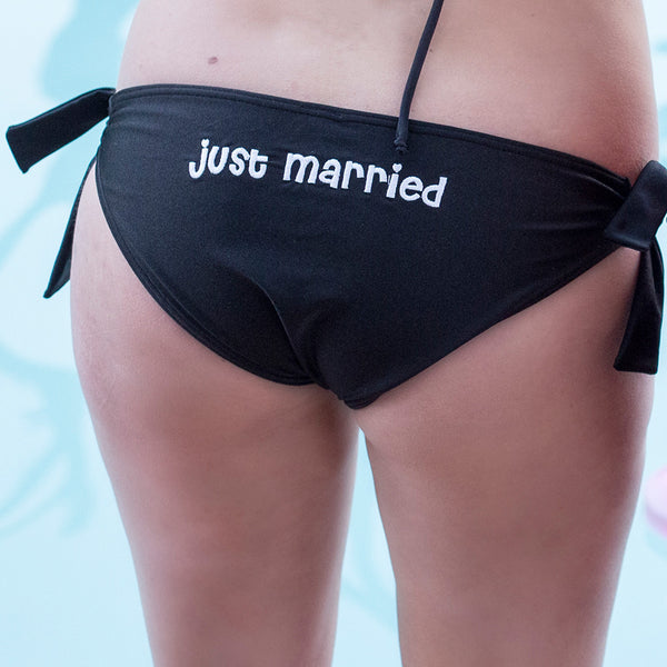 Bridal Set - Just Married - Black
