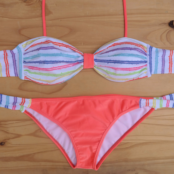 Bubbles & Peaches Bikini Set