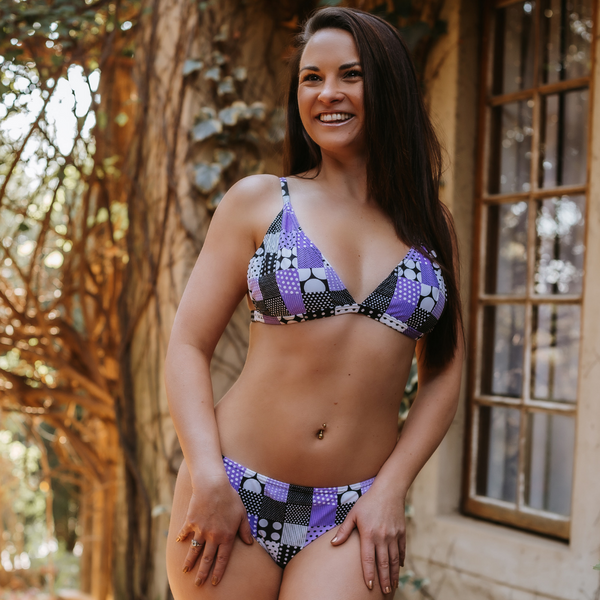 Purple Patchwork Sofia Bikini Set