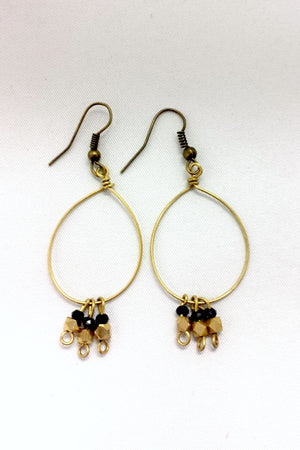 Golden Black Earrings