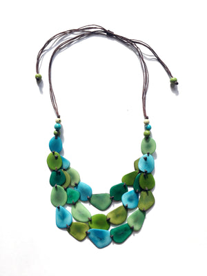 Tagua Three Layer Necklace
