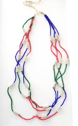 Red Green blue necklace