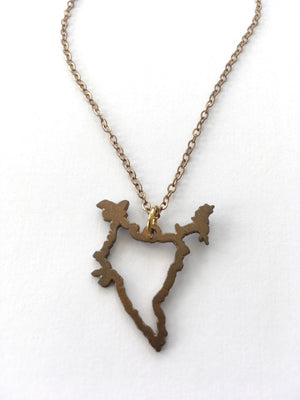 India Outline Necklace