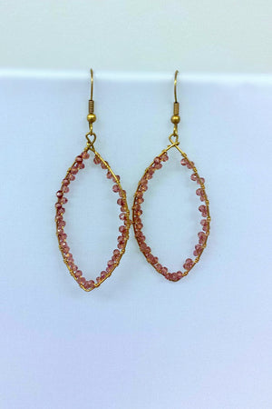 Oval Twisted Earrings