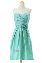 Blue Taffeta Short Bridesmaid Dresses AM265
