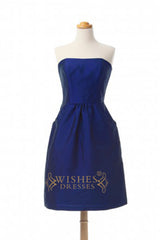 A-line Short Knee length Bridesmaid Dress AM286