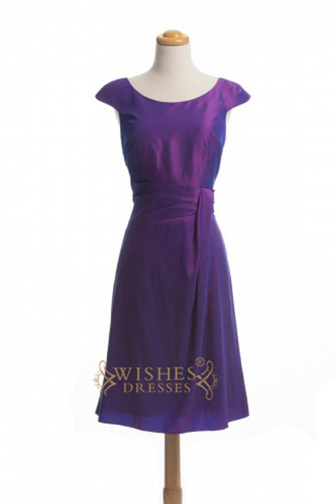 Short Knee Length Bridesmaid Dress AM287