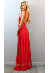 Red Chiffon Prom Dresses /Long Formal Dresses AM294