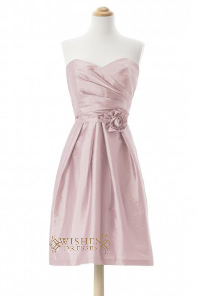 A line Taffeta Short Length Bridesmaid Dress AM330