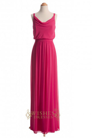 A-line Fuchsia Chiffon Bridesmaid Dresses AM351