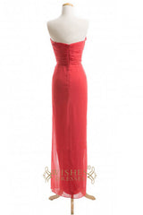 A-line Sweetheart Chiffon Long Long Bridesmaid Dresses AM362