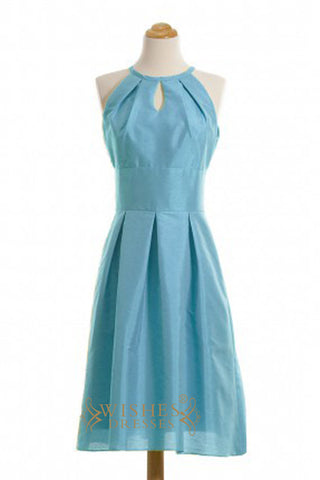 Custom Made A-line Teal Taffeta Short Bridesmaid Dresses AM368