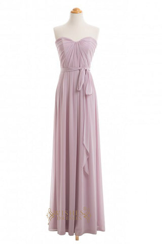A-line  Chiffon Floor Length Bridesmaid Dresses AM377