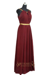 Affordable A-line Slim Long Bridesmaid Dress /Formal Dress   AM456