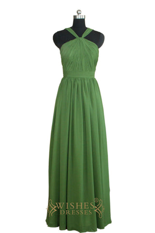 Affordable Green Floor Length Bridesmaid Dress   AM458