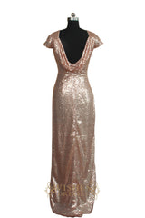 Gold Sequins Bridesmaid Dress/ Evening Dress AM464