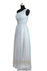 One-shoulder Bridesmaid Dress With Ruched Bodice AM469