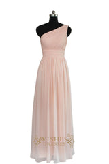 Empire One-shoulder Bridesmaid Dress  AM455