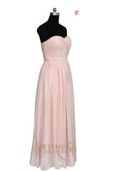 Pearlpink Chiffon Bridesmaid Dress  AM474