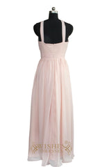 A-line Chiffon Bridesmaid Dress With Halter AM475