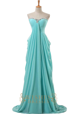 Blue Long Prom Dress/ Evening Dress Am491