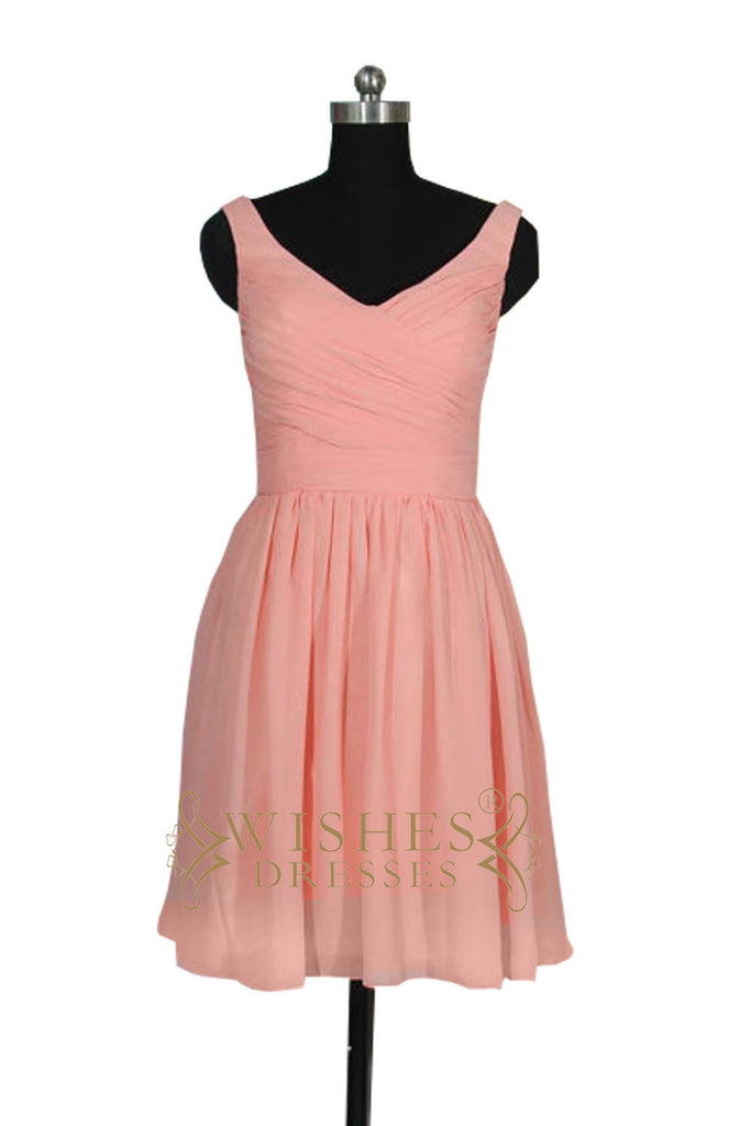 V-neck Chiffon Mismatch Bridesmaid Dress AM518