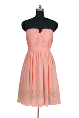 Strapless Mismatch Bridesmaid Dress AM519