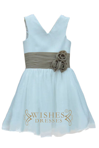 Ruched Waistband Flower Girl Dress AM522
