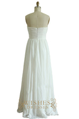 Strapless White Chiffon Bridesmaid Dresses AM523