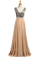 Affordable Dark Silver and Pearlpink Sequins Bridesmaid Dress AM538