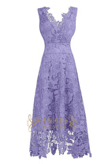 Lavender Lace Cocktail Dresses AM591