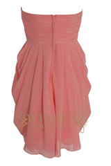 A-line Sweetheart Neckline Watermelon Bridesmaid Dresses Am103