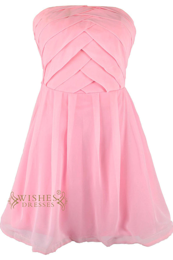 Stunning Pleated Satin Short Prom Dress Am107
