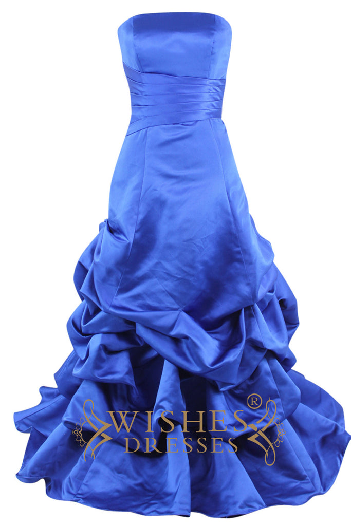 Mermaid Royal Blue Long Prom Dress With Jacket Am114