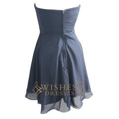 A-line Black Chiffon Bridesmaid Dresses Am120