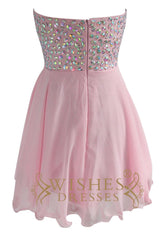 Cheap Pink Short Prom Dresses Am132