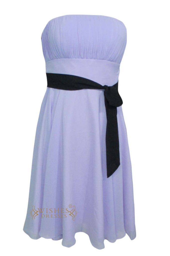 A-line Lavender Chiffon Knee Length Bridesmaid Dress Am147