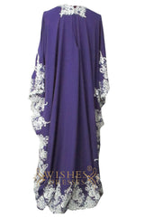 Lace Detail Purple Muslim Dress Mother of Bride Dress /Prom Am152