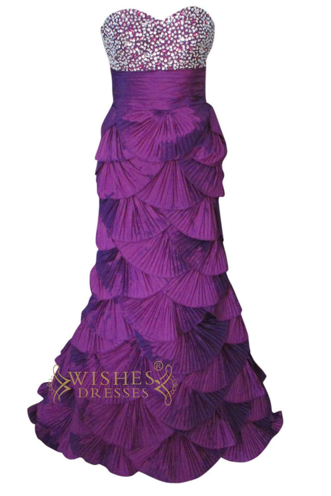 Fashion Mermaid Cataphracted Skirt Long Formal Dress Am170
